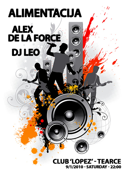 Alex De La Force, DJ Leo & Alimentacija Band @ Club LOPEZ, Tearce
